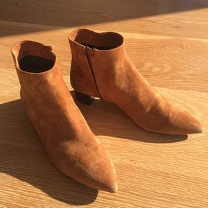 Theory Suede Ankle Booties made in Italy